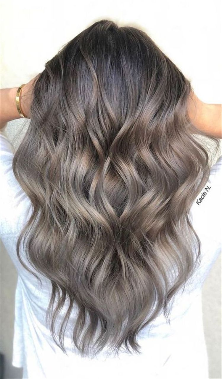 45 Stunning Ash Brown Hair Color Ideas For Summer - Page 22 of 45 -   10 hair Balayage cenizo ideas