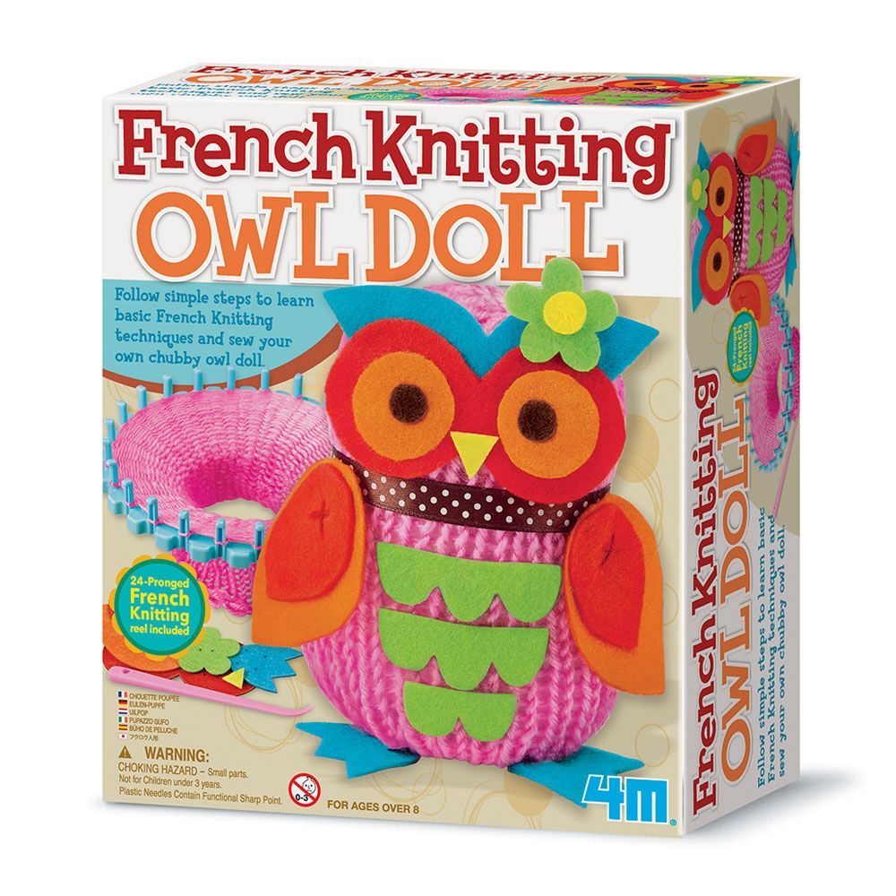 French Knitting Owl Doll French knitting, Knitting, Owl