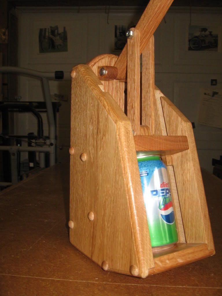 Wooden Can Crusher DIY Woodworking Projects, Plans