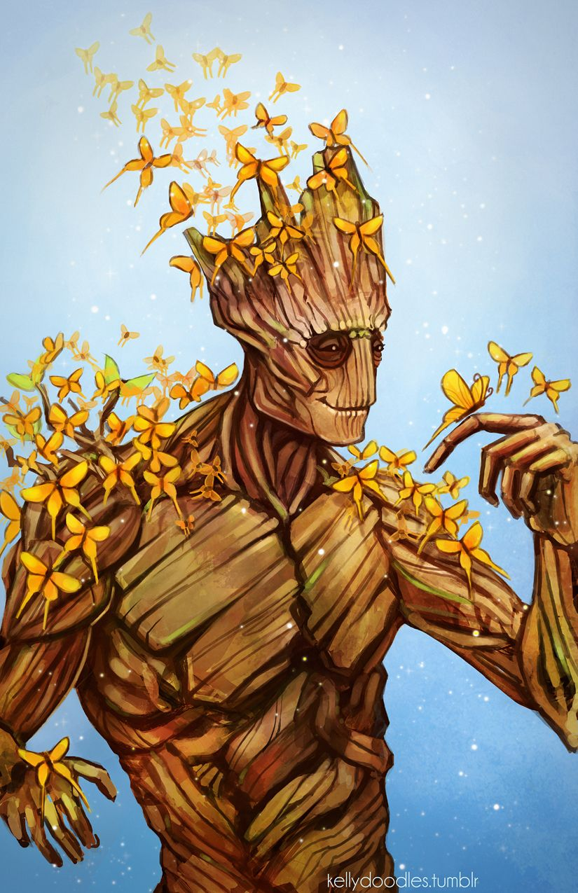 kellydoodles: Finished teh Groot :D May make this into a ...