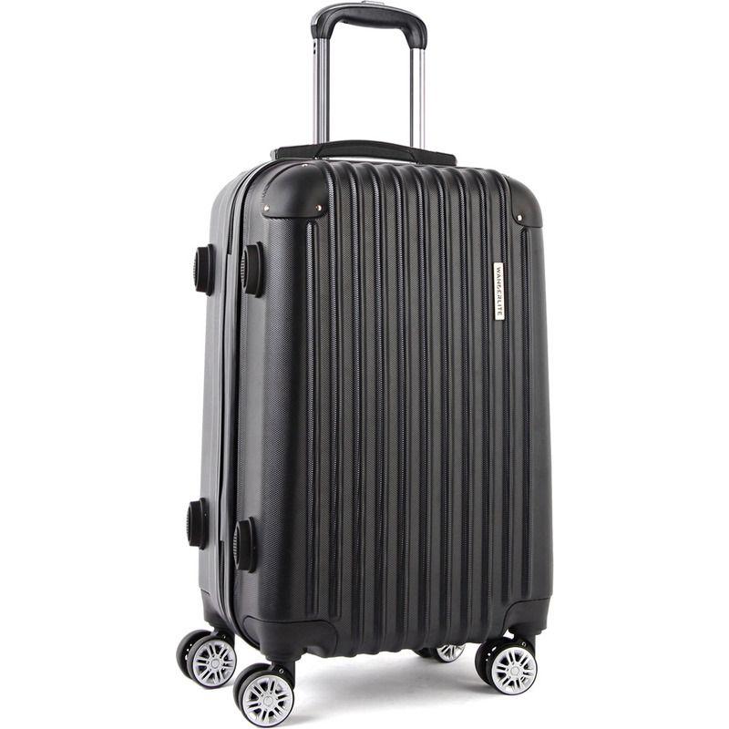 Hard Shell Travel Luggage Suitcase w 4 Wheels Black | Buy EOFY ...