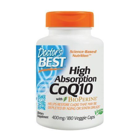 Best High Absorption CoQ10 with BioPerine, Non-GMO, Gluten Free, Naturally Fermented, Vegan, Heart Health and Energy Production, 400 mg, 180 Veggie Caps, .Doctor's Best High Absorption CoQ10 with BioPerine, Non-GMO, Gluten Free, Naturally Fermented, Vegan, Heart Health and Energy Production, 400 mg, 180 Veggie Caps, .