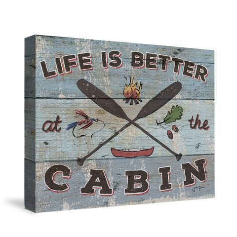 Cabin Fever I Canvas Wall Art Perfect Rustic Cabin Decor