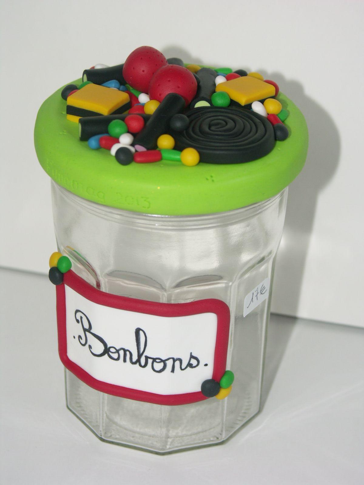 bocal bonbons fimo mes cr ations en polym re fimo pinterest bocal bonbon et fimo. Black Bedroom Furniture Sets. Home Design Ideas