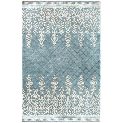 Kushi Border Rugs Blue Pier 1 Matches The Wallpaper I Want For Living Room