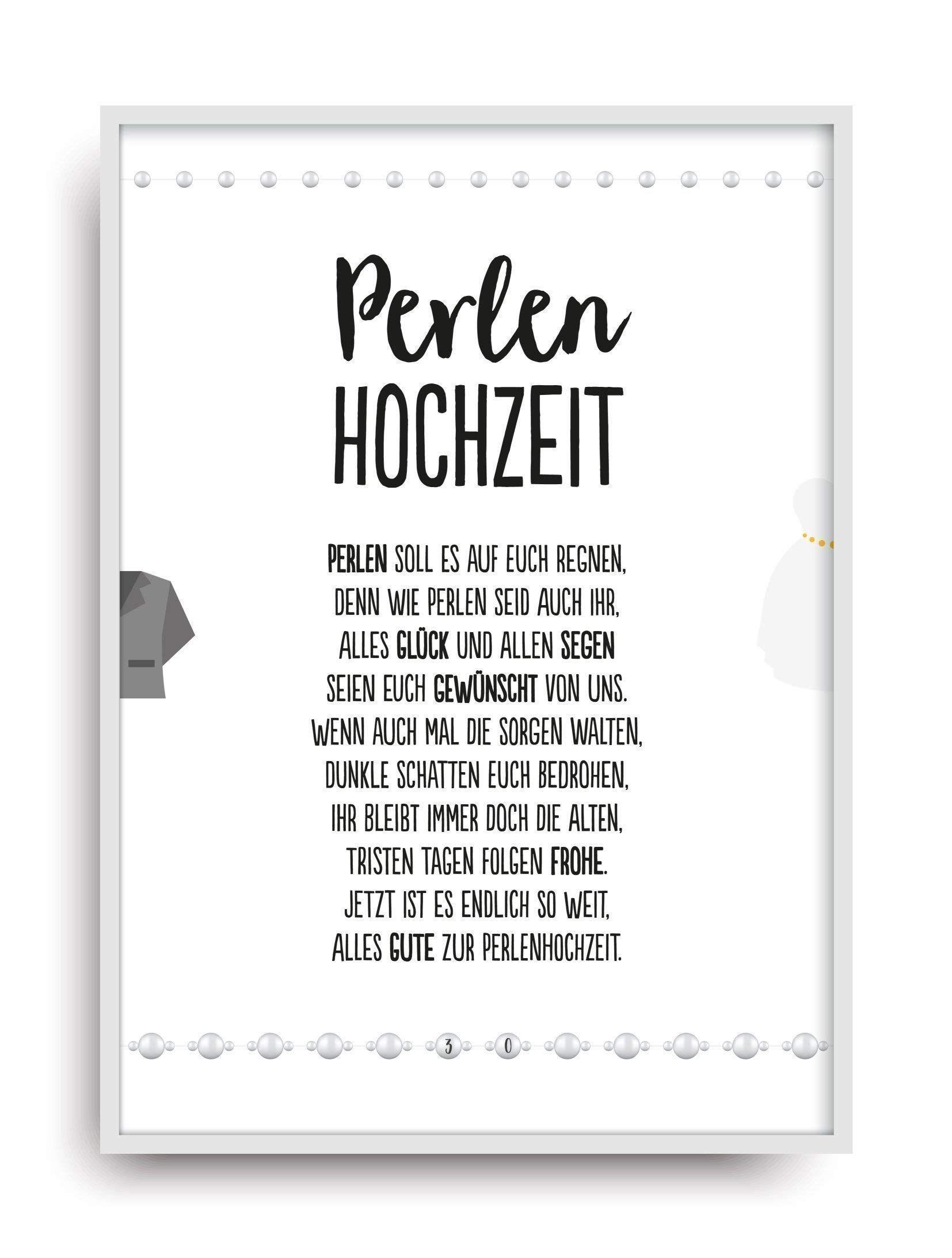 Hochzeit Karte Perlenhochzeit Kunstdruck 30 Hochzeitstag Perlen Brautpaar Bild Ohne Rahmen Din A4 Ad Kunstdruck Hochz Karte Hochzeit Hochzeitstag Hochzeit