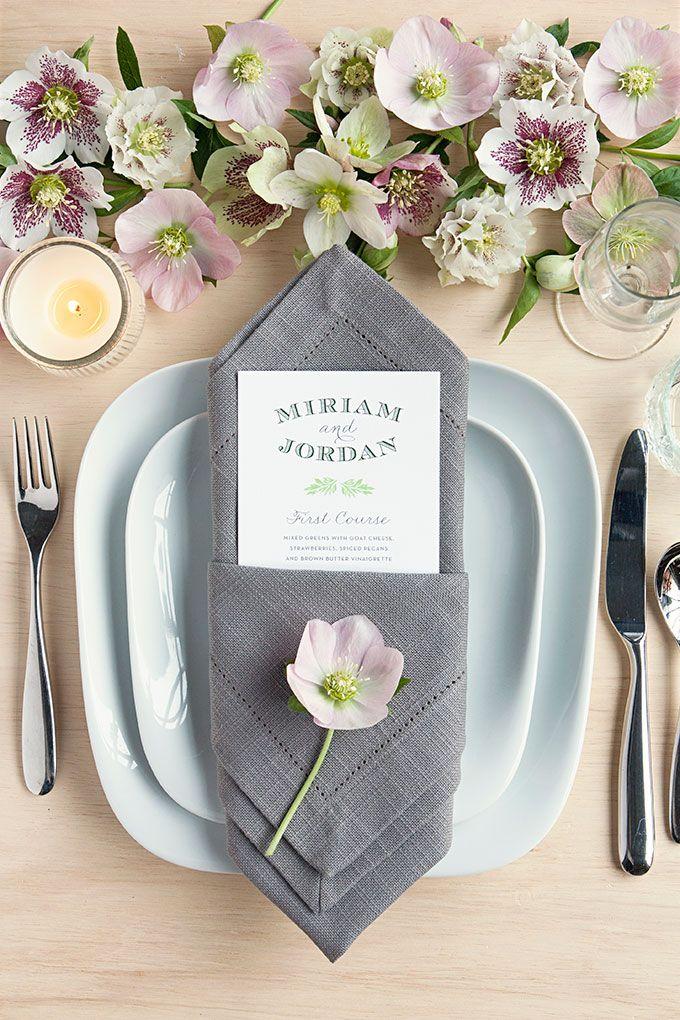 Table Setting Tips 3 Menu Napkin Folds Wedding Napkin Folding