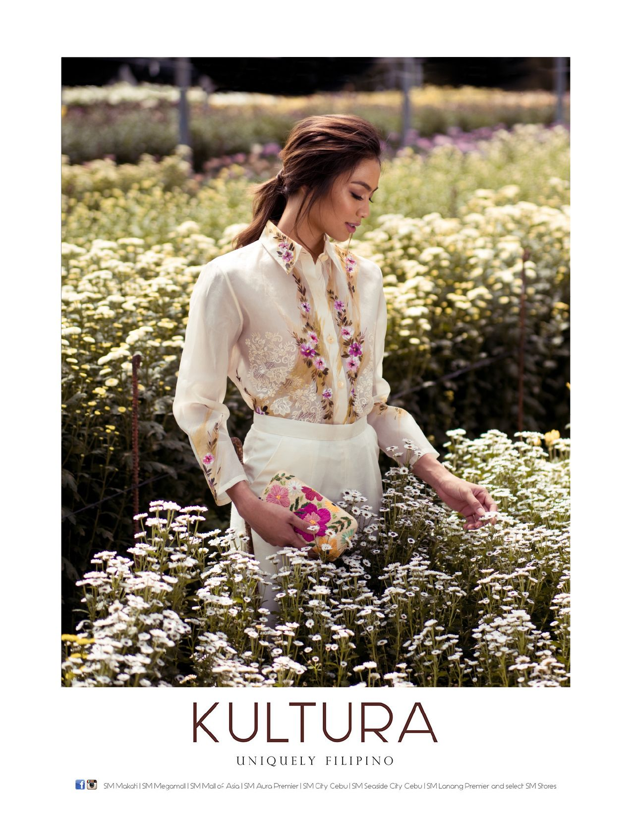 Hand-painted and embroidered barong in jusi silk from Kultura