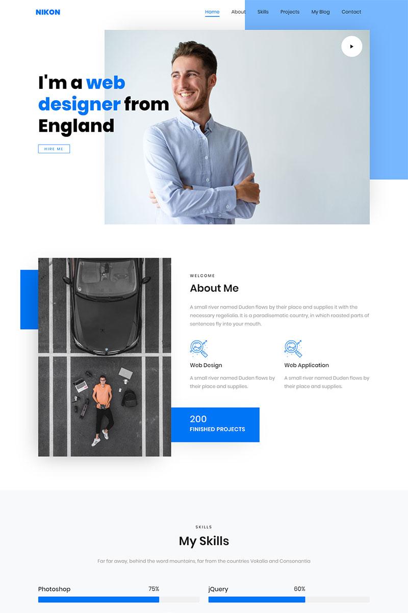 Personal Portfolio Landing Page Template Portfolio Website Design Personal Website Design Portfolio Web Design