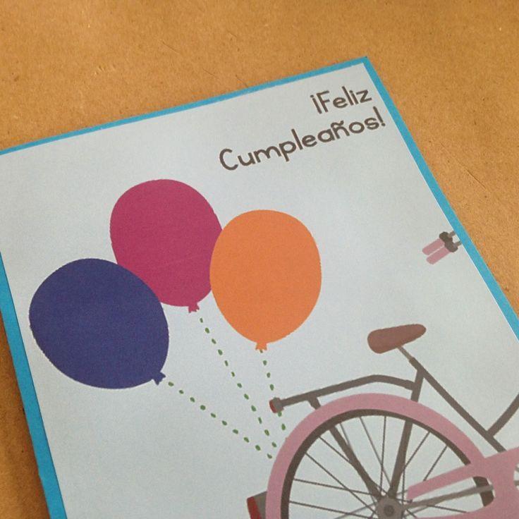 Resultado De Imagen De Hacer Tarjetas Cumpleanos Nina Bicicleta - Hacer-tarjetas-de-cumpleaos