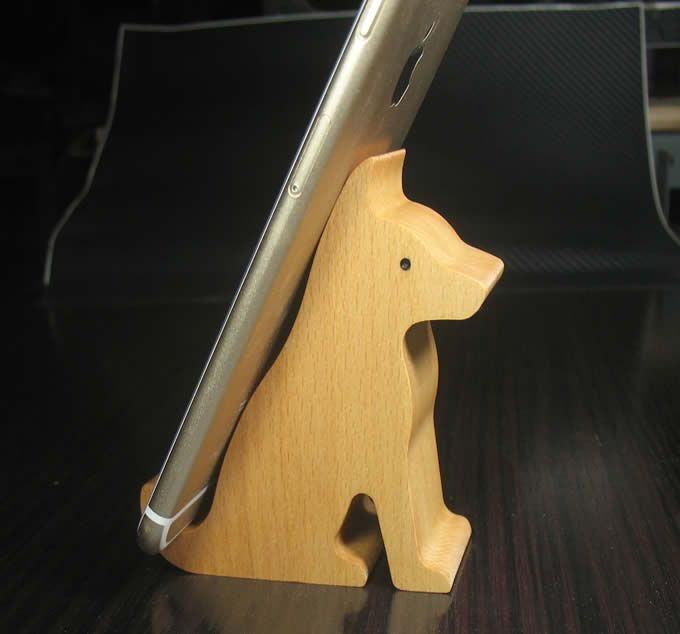wooden animal shaped mobile phone ipad holder stand fun. Black Bedroom Furniture Sets. Home Design Ideas