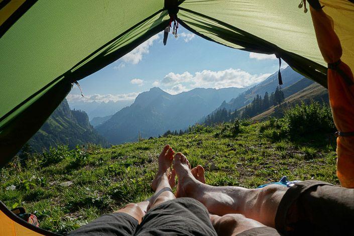 Camping avec vue.