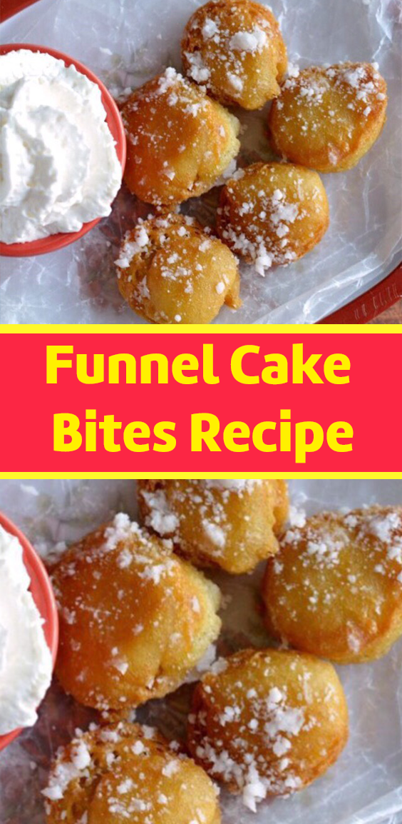 Don't lose this delicious recipe, save it for later by REPIN it ♥ funnel cake recipe is part of Fair food recipes -