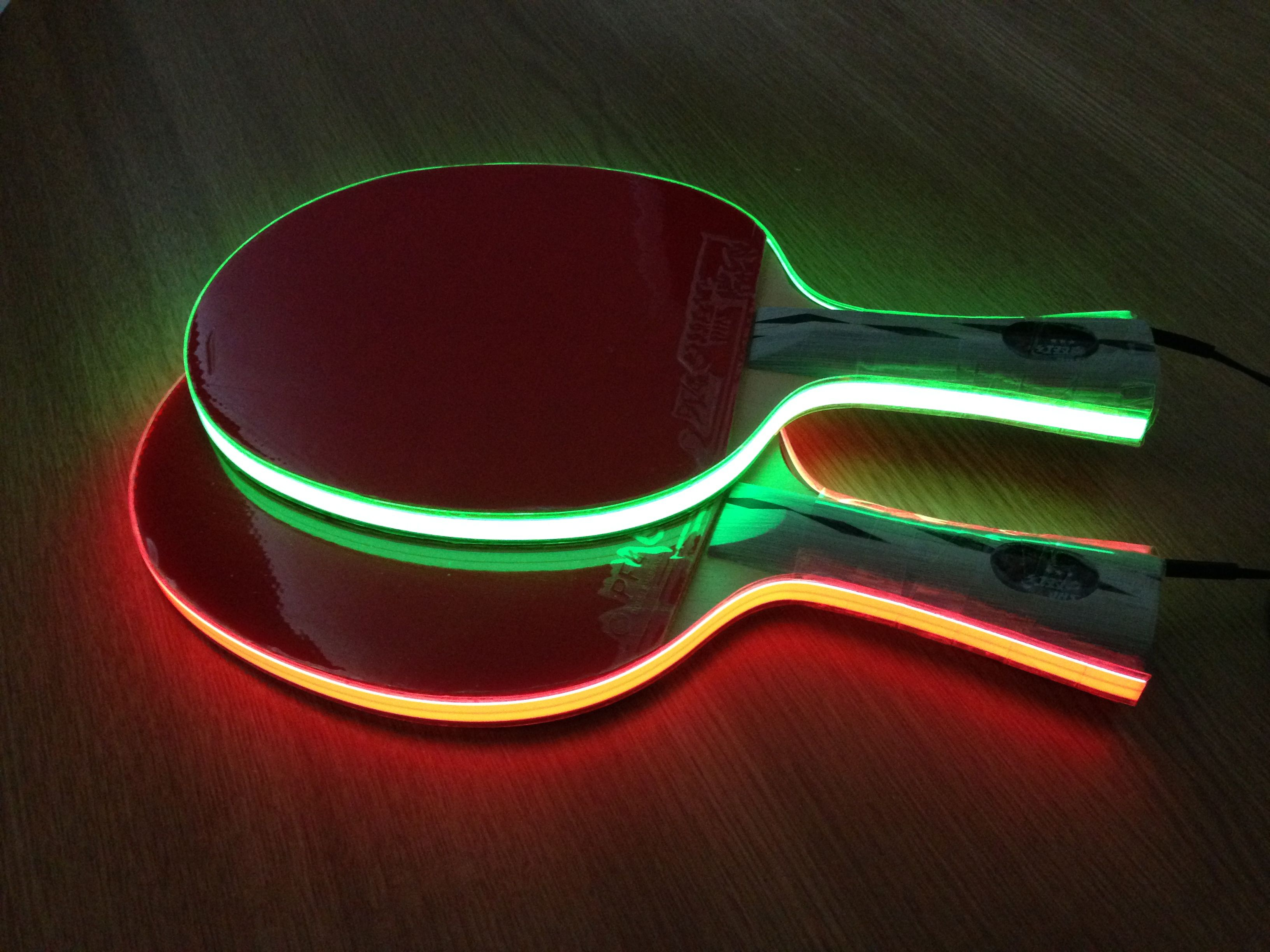 This glowing table tennis paddles are called light tape table this glowing table tennis paddles are called light tape table tennis bats it aloadofball Image collections