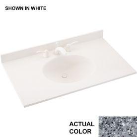 Swanstone Ellipse Gray Granite Composite Integral Single