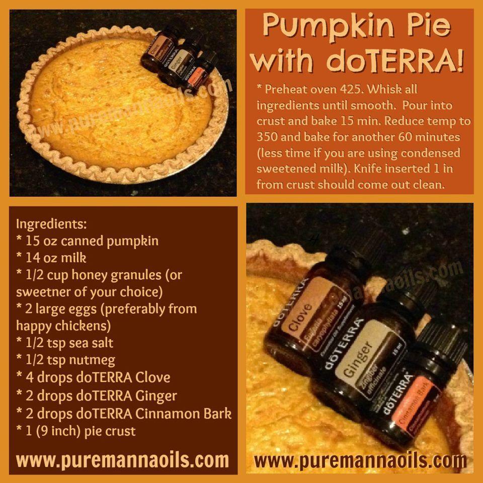 Pumpkin pie with doterra oils doterra for How to make pumpkin spice essential oil