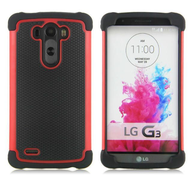 G3 High quality Fashion Hard Armor TPU + PC Hybrid Tough Phone Case For LG G3 Silicone Back Cover Rubber Protective Bag 74X