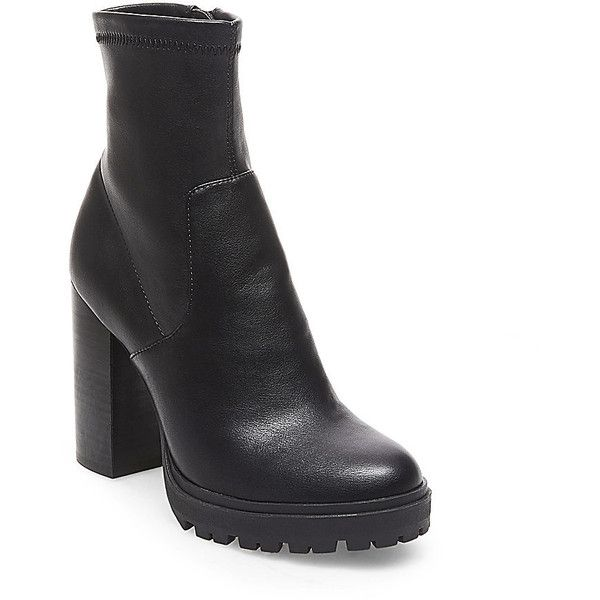 Black ankle booties · Steve Madden Legend Booties ($130) ❤ liked on  Polyvore featuring shoes, boots,
