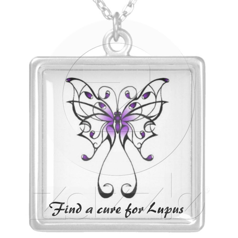 Lupus Butterfly Silver Plated Necklace