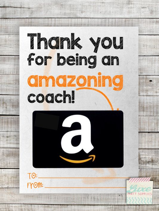 Instant Download Printable Amazon Coach Gift Card Holder Amazoning Teacher Appreciation Coach Gift Coach Gift Card Dad Gifts Card Mom Gifts Card
