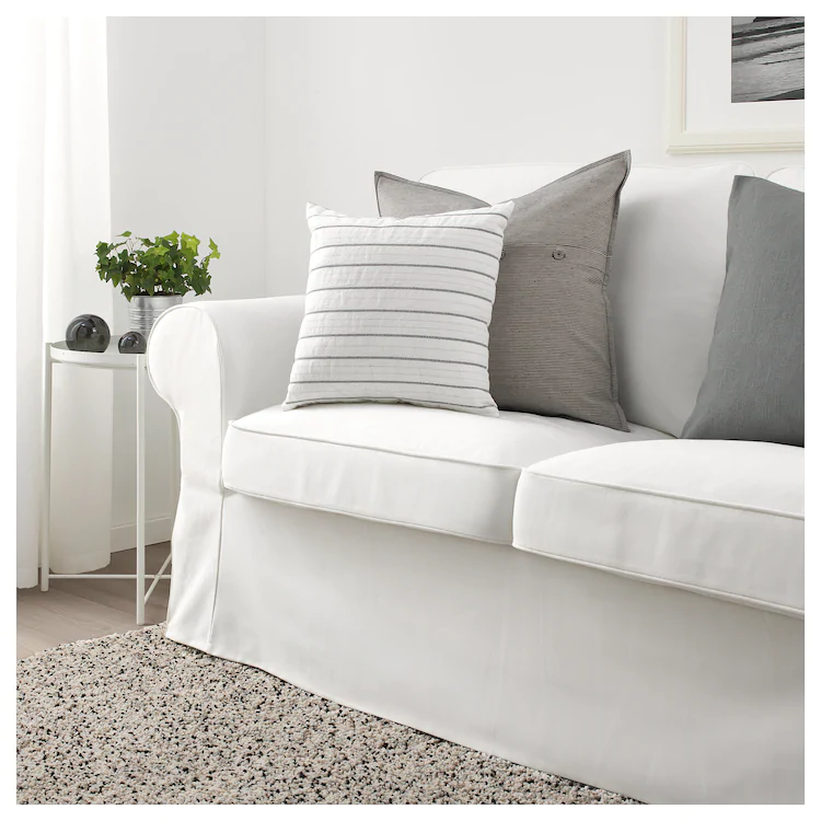 KONSTANSE Cushion, white, dark gray IKEA Cushions ikea