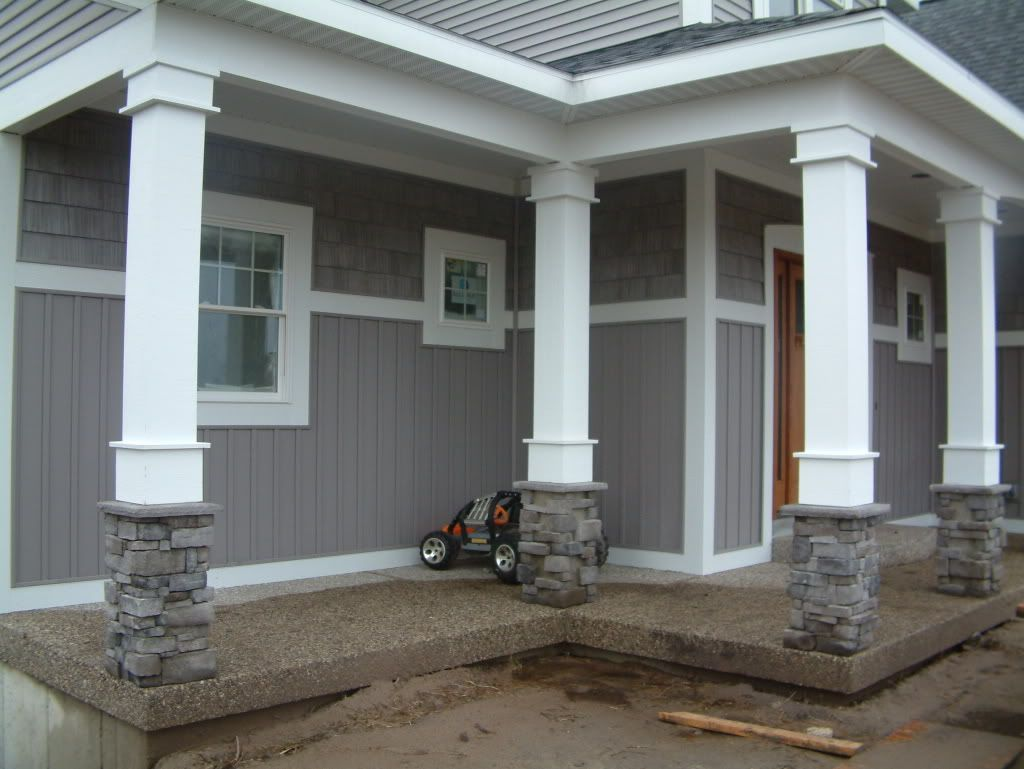Columns for porch at entry way and corners ideas for for Column design ideas