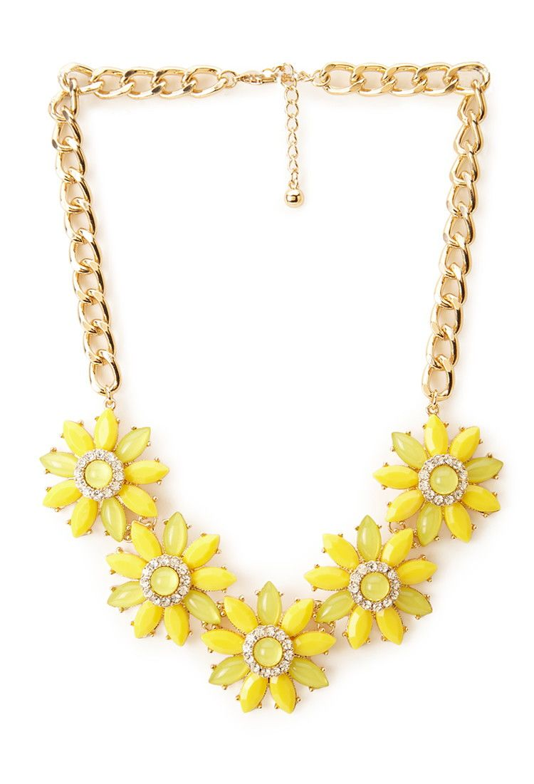 Fancy Floral Bib Necklace | Forever 21 - 1000061308