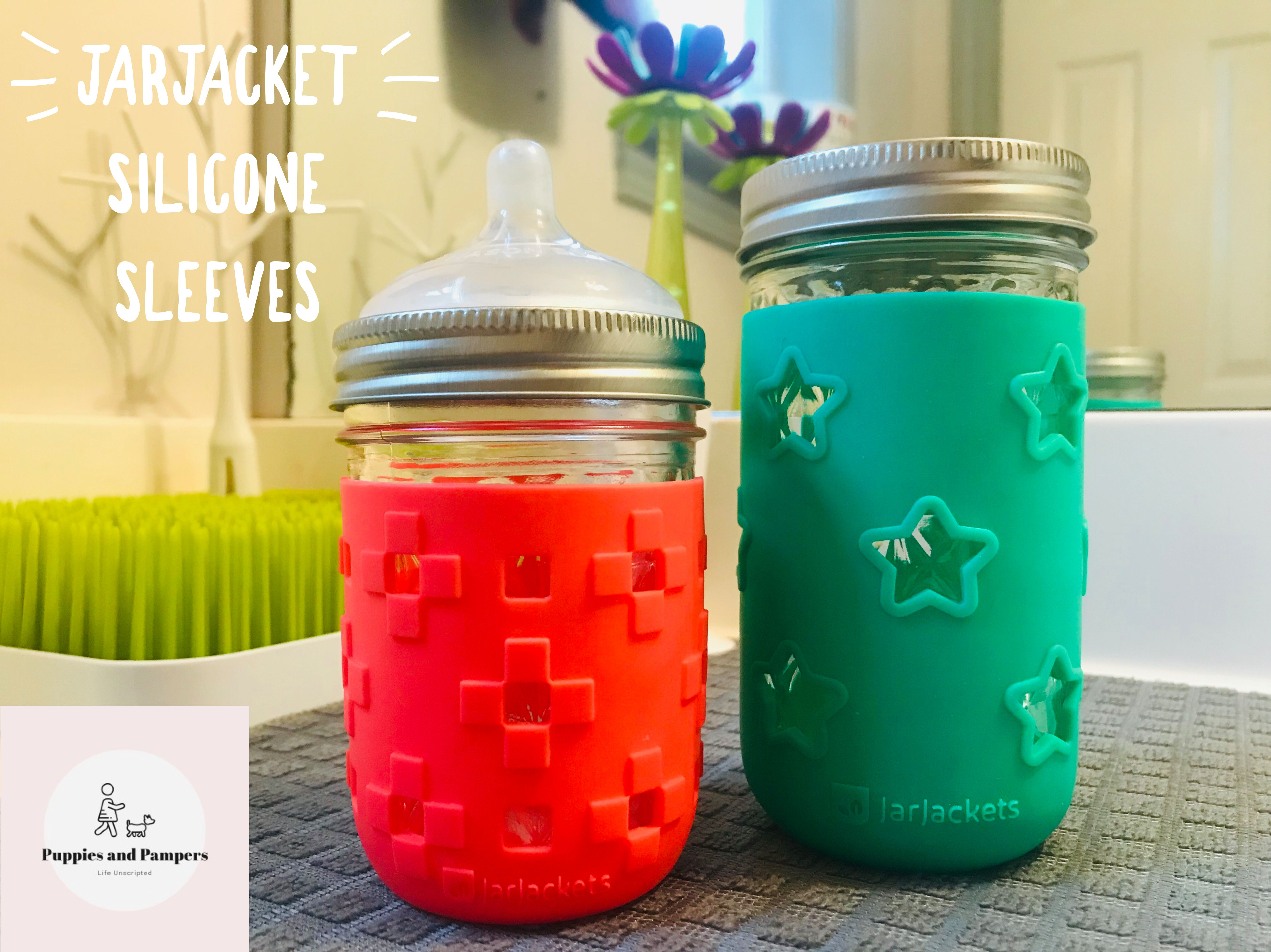 Jarjackets Silicone Sleeves For Mason Jars Glass Baby Bottles