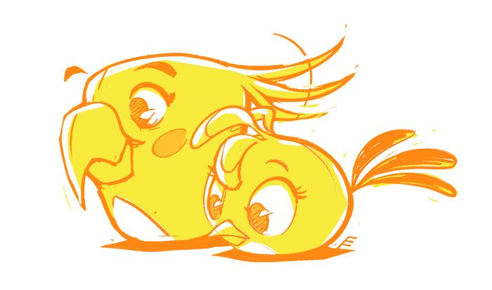 Desenhos De Sandro Cleuzo Para O Filme Angry Birds: Shining StellART