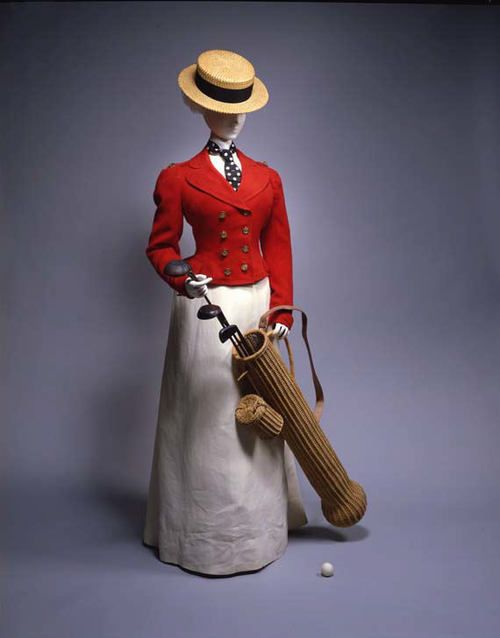 Golfing ensemble ca. 1898 via The Costume Institute of the Metropolitan Museum of Art