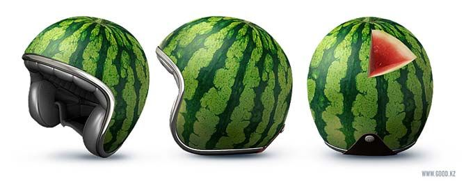 Watermelon Motorcycle Helmet From Good Creative Marketing A