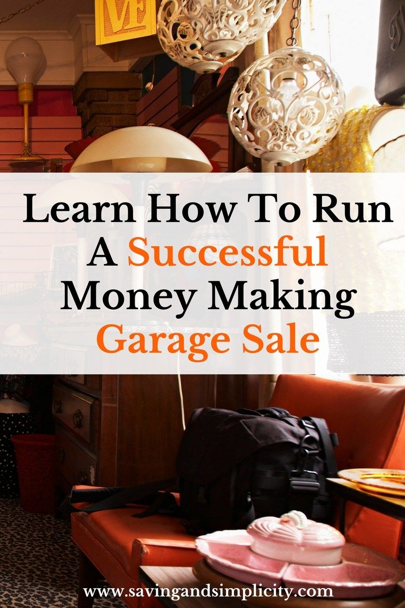 How to Organize and Run a YardGarage Sale foto