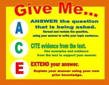 ACE BCR Questions Poster | Creative and Critical Thinking | Pinterest