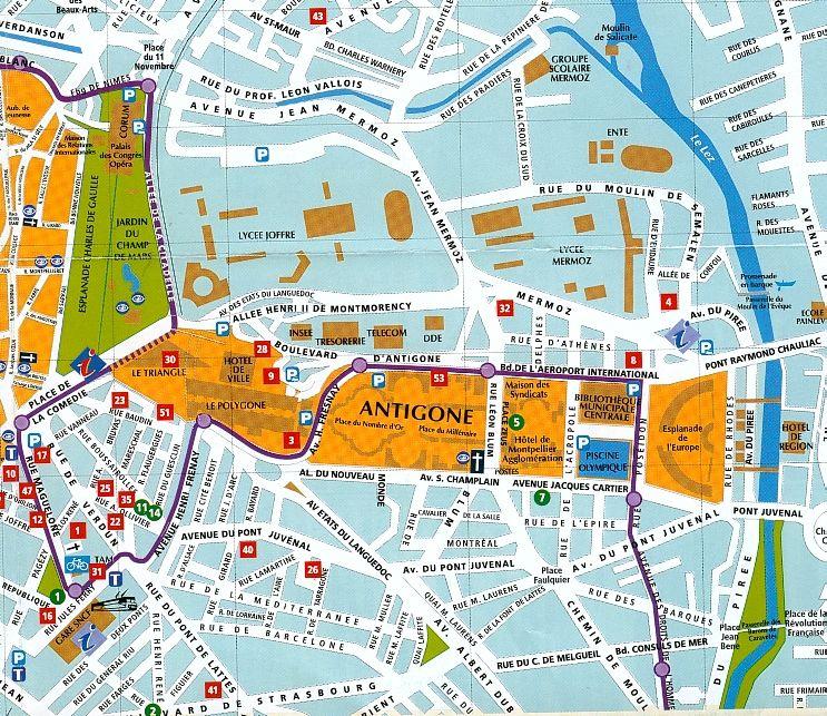 Plan ville de montpellier