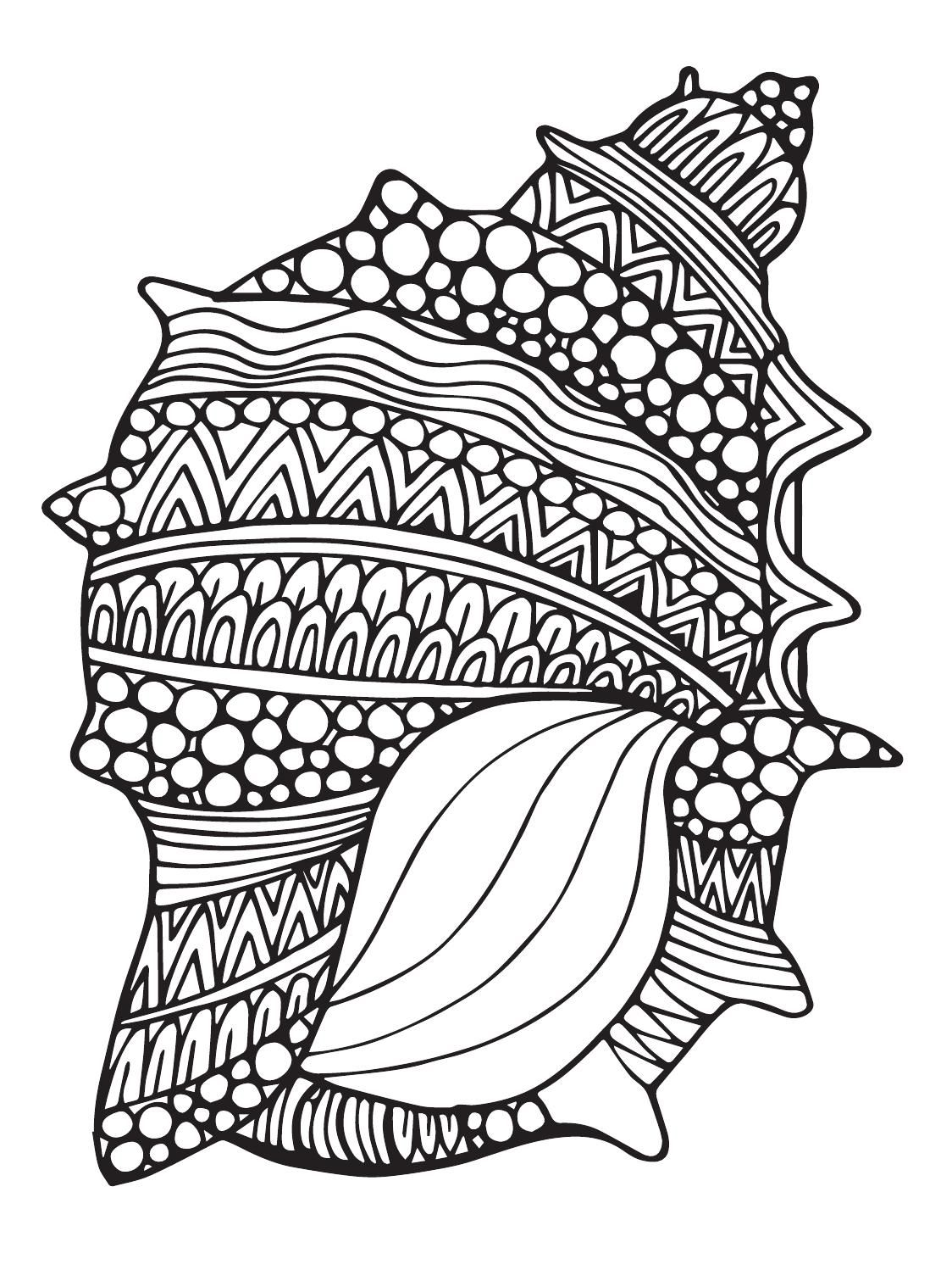 sea horse zentangle coloring page from zentangle category select