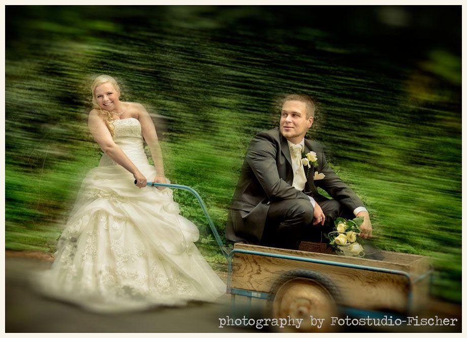 """Hochzeitsfoto mit """"Anhänger"""""""