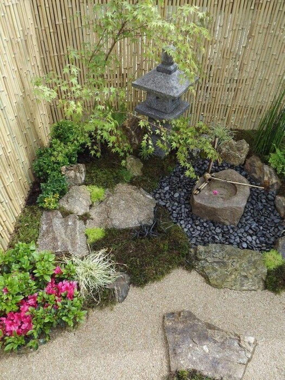 44 Pretty Small Rock Gardens Ideas Japanesegardendesign Small Japanese Garden Zen Garden Design Rock Garden Landscaping Small backyard japanese garden ideas