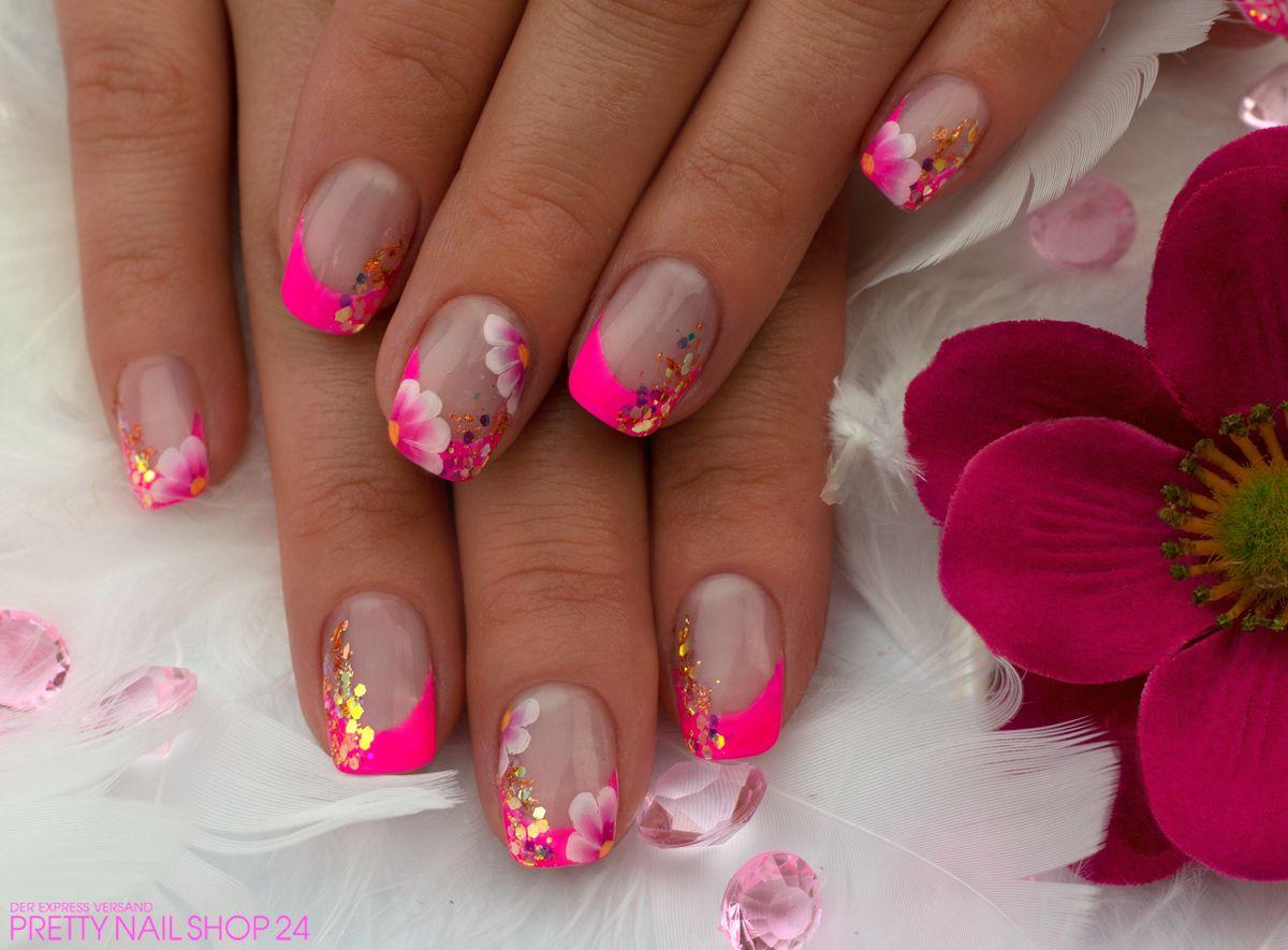 Neon pink nailart neon pink ist die absolute lieblingsfarbe meiner kollegin kathlen f r - Nailart muster ...