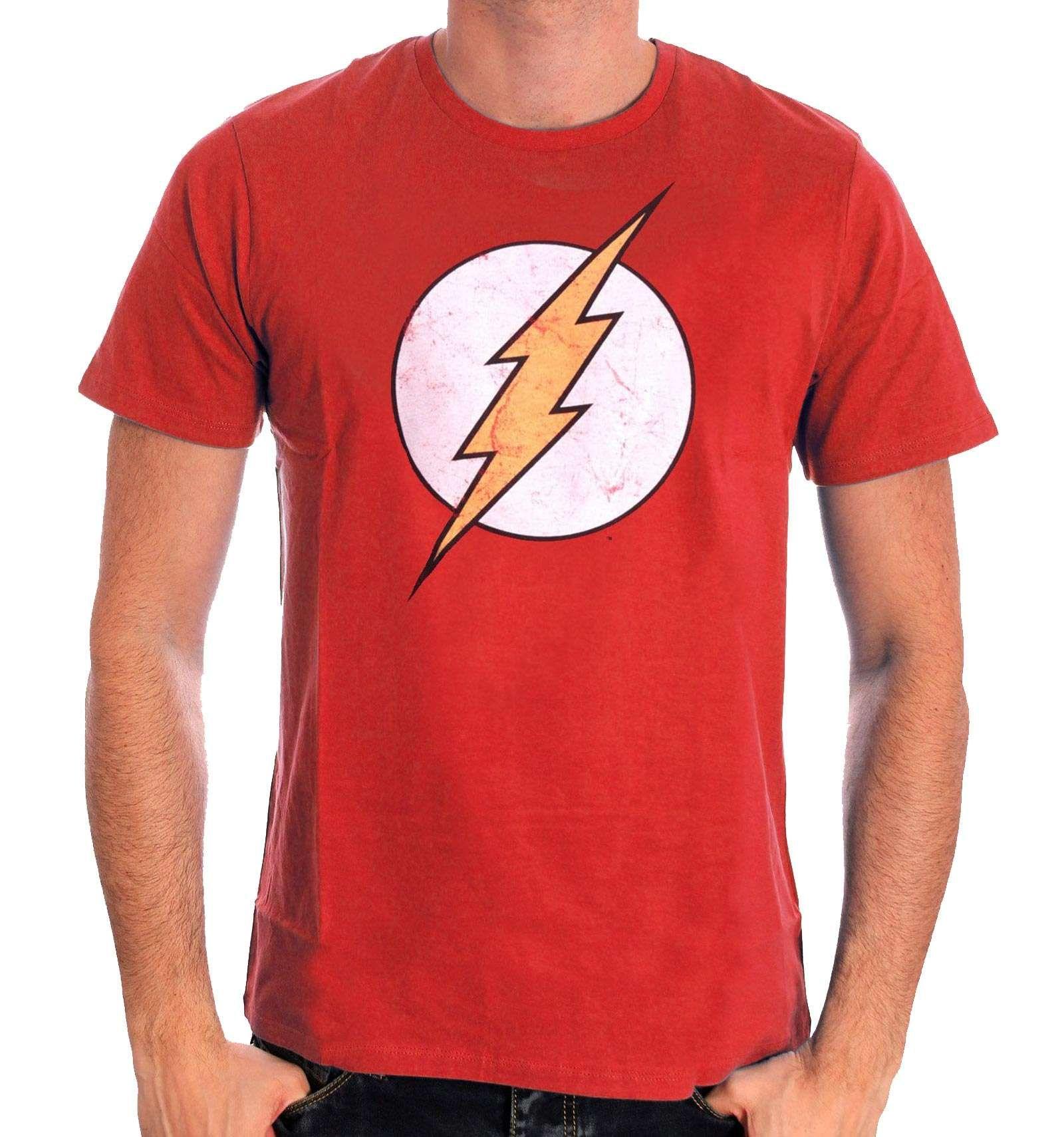 T Shirt The Flash Dc Comics Classic Logo T Shirt Dc Comics Costume Rouge