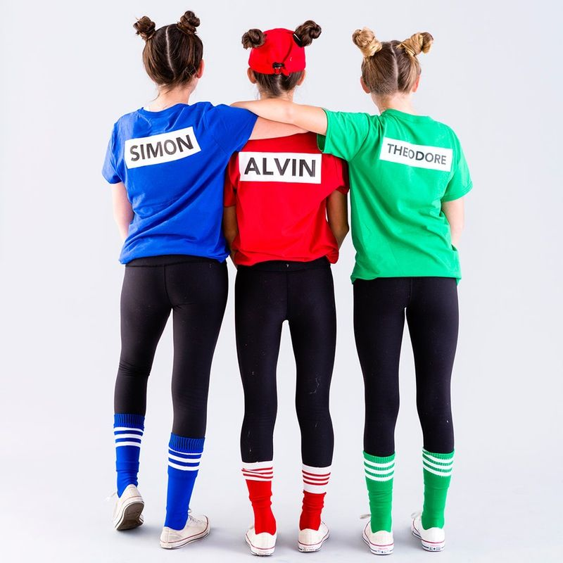 save this last minute diy halloween group costume tutorial to make a chipmunks squad - Halloween Costumes Three Girls