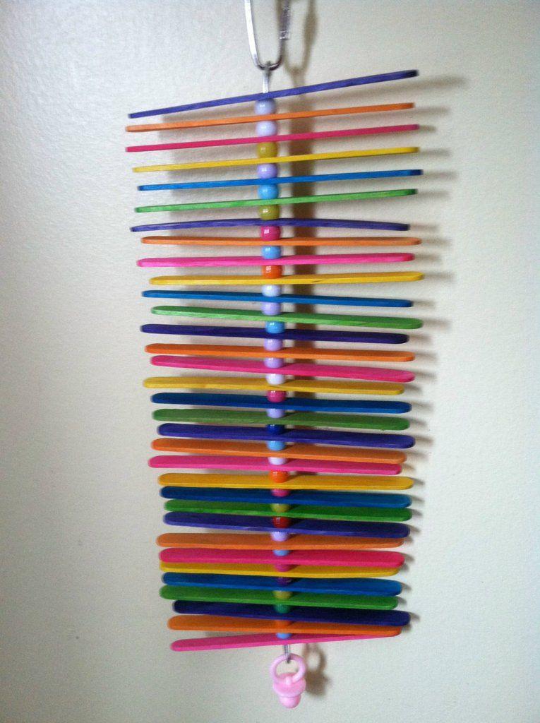 Stack of Sticks Small Wood Bird Toy Bird toys, Parrot