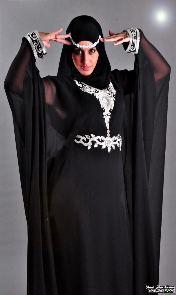 عبايات مودرن مصرية اجمل العبايات السوداء 2016 Fashion Hijab