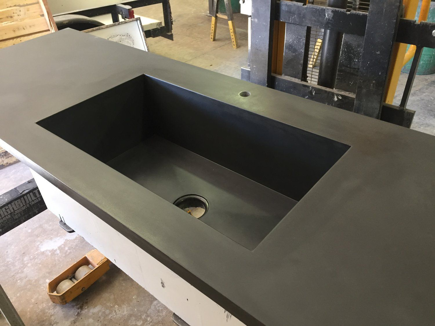 Kitchen Counter With Integral Sink Concrete Kitchen Counters