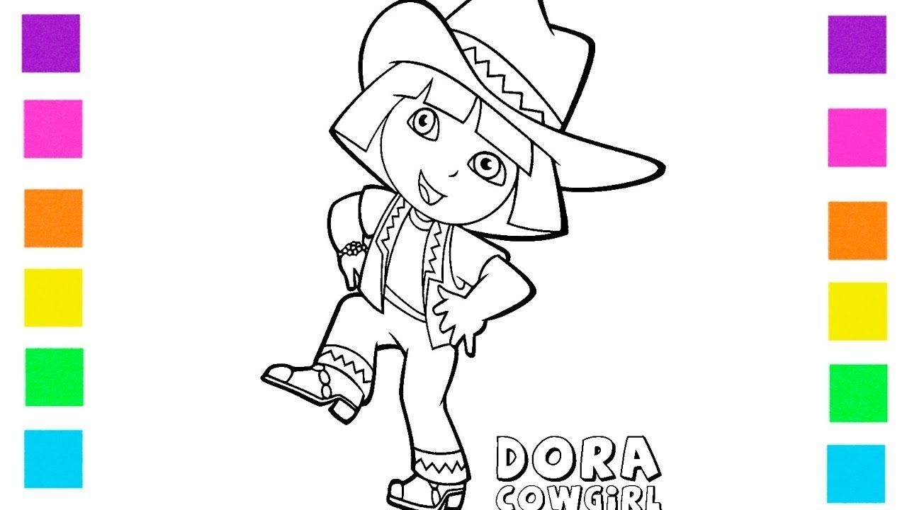 40++ Cowgirl dora coloring pages information