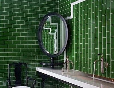 metro green wall tile ba os pinterest green walls. Black Bedroom Furniture Sets. Home Design Ideas