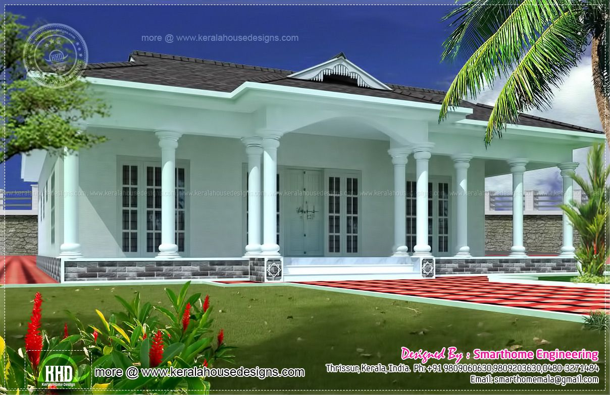 1600 Sq Ft Single Story 3 Bed Room Villa In 2019 House