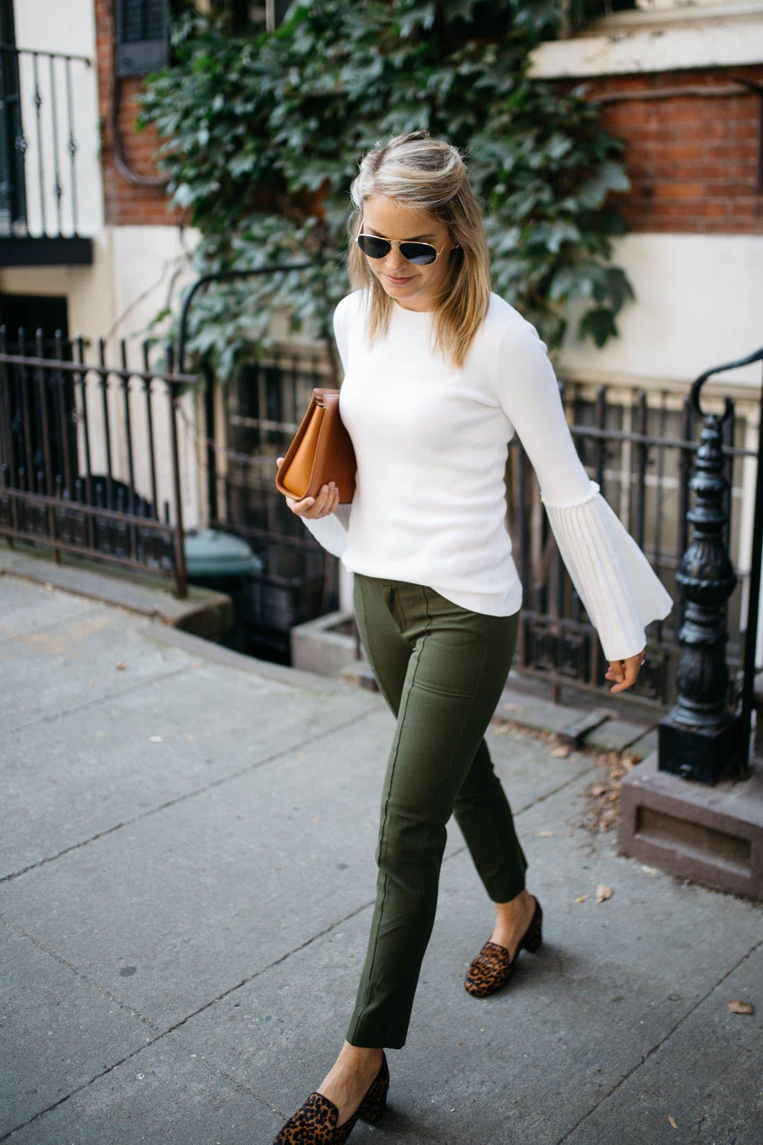 THE SLOAN PANT (styledsnapshots) #leopardshoesoutfit