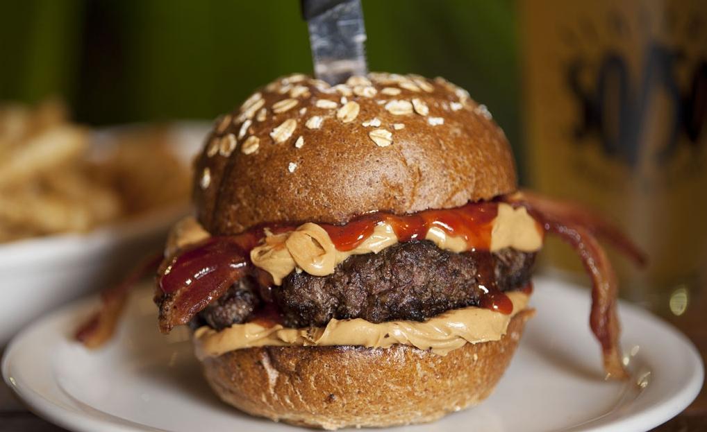 Slater's 50/50 Peanut Butter Jealousy Burger