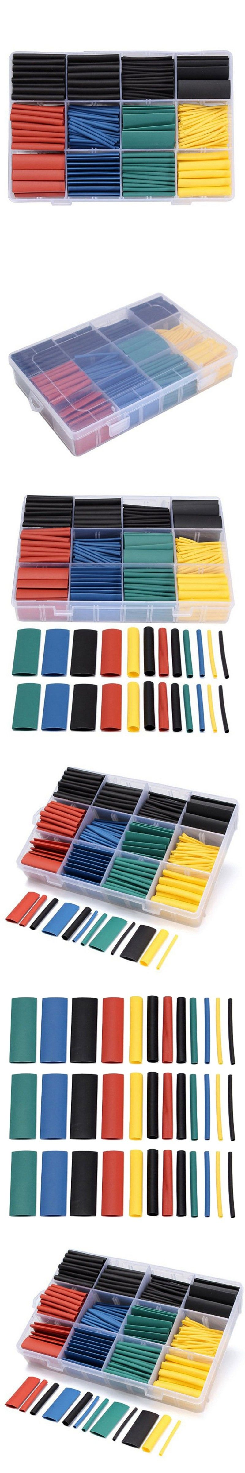 530pcs Heat Shrink Tubing Insulation Shrinkable Tube 21 Wire Cable Sleeve Wiring Harness Kit