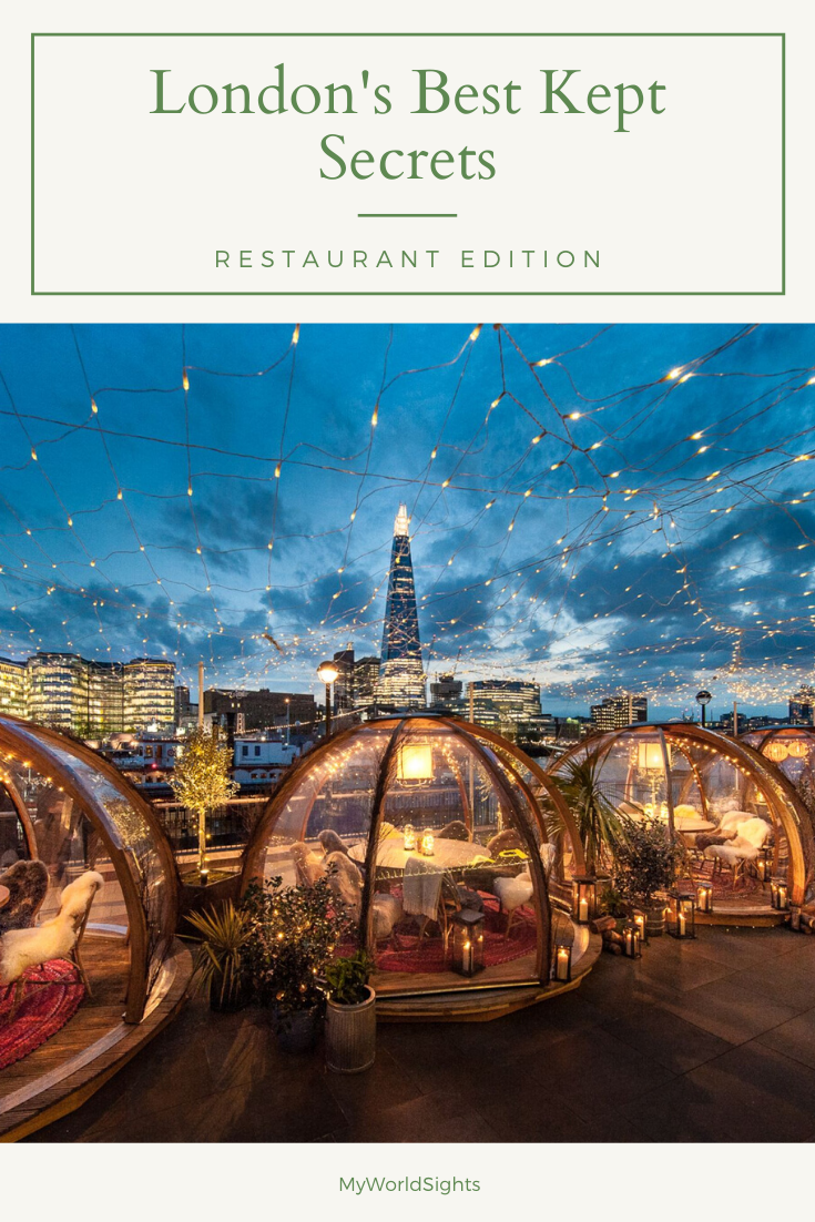 London has SO many restaurants to offer, but these lesser known restaurants and bars are so unique and unusual, it will be a once in a life time experience! Put these restaurants on your itinerary to guarantee a great night out!